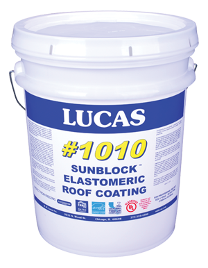 Lucas #1010 SunBlock™ White Elastomeric Roof Coating