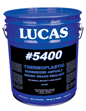 Lucas #5400 Thermoplastic Rubberized Asphalt Seala