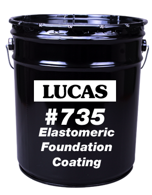 Lucas #735 Elastomeric Foundation Coating