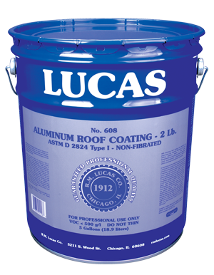 Lucas #608 Aluminum Coating 2 Lb. — Non-Fibrated