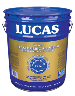 Lucas #637 Elastomeric Aluminum – SBS Modified