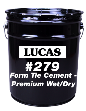 Lucas #279 Form Tie Cement - Premium Wet/Dry