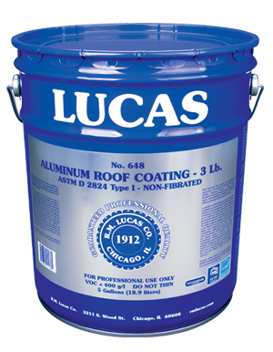 Lucas #648 Aluminum Coating 3 Lb.