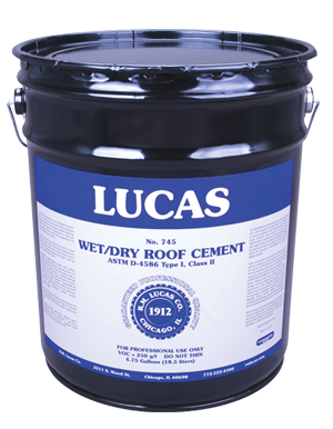 Lucas #745 Plastic Roof Cement – Wet/Dry