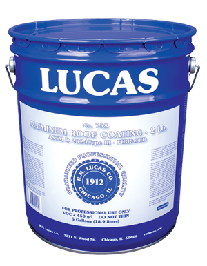Lucas #758 Aluminum Roof Coating 2 Lb.—Fibrated