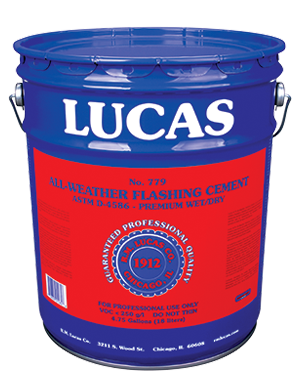 Lucas #779 All-Weather Flashing Cement — Premium