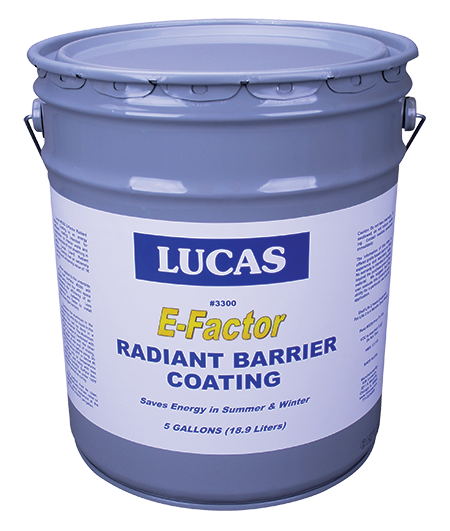 Lucas #3300 E-Factor Radiant Barrier Coating