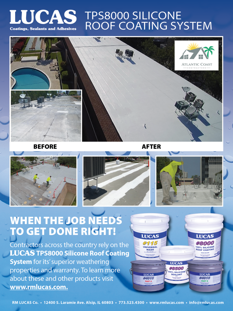 TPS 8000 Silicone Roof Coating System