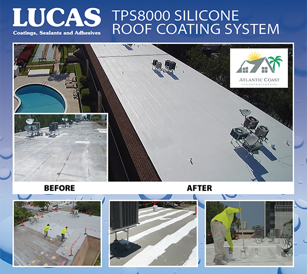 TPS8000 Silicone Roof Coating System